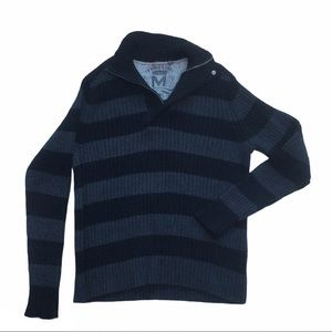 MEXX Men's half zip striped sweater - 100% cotton